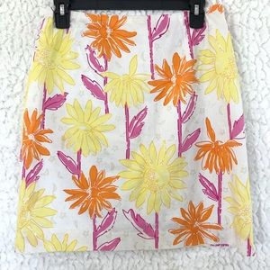 Lilly Pulitzer Glow In The Dark White Floral Skirt
